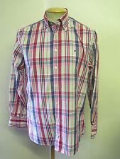 "Genuine Tommy Hilfiger Check Shirt - M 38-40"" Euro 48-50 - Pink & Blue"