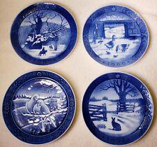 Lot of 4 Blue Royal Copenhagen Georg Jensen Annual Christmas Plates 67 69 71 72