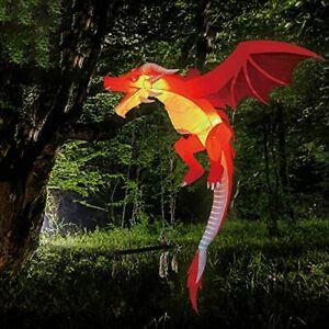 5 FT Tall Halloween Inflatable Hanging Flying Dragon Inflatable Yard