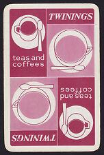 1 Single VINTAGE Swap/Playing Card ADV TWININGS TEA & COFFEE CUPS Reversible