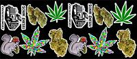 12 Marijuana Weed Cannabis Vinyl Stickers