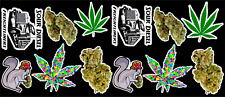 12 Marijuana Weed Cannabis Vinyl Stickers
