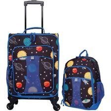 1d0c0f8489ea New 2 pc Kids Solar Luggage Set Suitcase Backpack School Travel