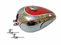 Horex Regina Red Painted Chrome Reproduction Fuel Petrol Gas Tank With Cap & Tap