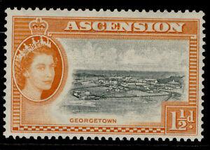 ASCENSION QEII SG59, 1½d black & orange, M MINT.