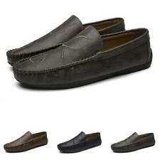 Mens Driving Moccasins Shoes Pumps Slip on Loafers Soft Breathable Walking New D