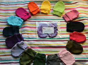COLOURED BABY SCRATCH MITTENS / MITTS baby shower gift
