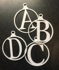 Acrylic Christmas tree decoration initial Bauble 3 Mm Thick Laser Cut Perspex