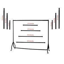 Heavy Duty Black Garment Rail Clothes Home Retail Hanging Display Portable Rack