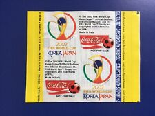 """PANINI WORLD CUP 2002 SUPER RARE COCA COLA """"NOT FOR SALE PACKET"""". MINT. FREE P&P"""