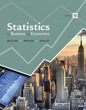 Statistics for Business and Economics, by McClave, 12th Edition