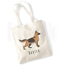 Personalised 'German Shepherd Dog' Canvas Tote Bag- GIFT FOR PET DOG OWNER