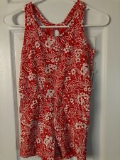 NWT Old Navy Girl's Romper, Red and White Print, Size M(8)