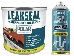 Polar LeakSeal Roof Waterproof Sealer Leak Prevention Sealant Paint or Spray On