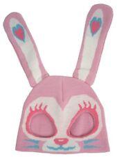 Knit Half Ski Mask Bunny Rabbit Pink Tattoo Rockabilly Pinup Punk Costume Party