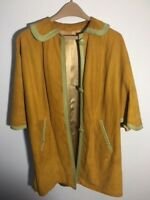 Beautiful Vintage Suede and Leather Trimmed Mod Poncho 60's/70's
