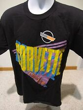 Vintage 90's Corvette Old Style Beer Tee Shirt T-shirt Hot Rods M/L Black