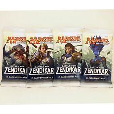 MTG: 4 BATTLE for ZENDIKAR Factory Sealed Booster Pack Lot x4 Packs