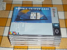 CD DVD case double - 5 pack, each item for 2 CD/DVD new sealed - Office data
