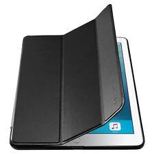 "Spigen® Apple iPad 9.7"" 2017 [Smart Fold] Black Synthetic Leather Case Cover"