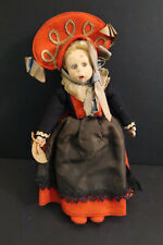 "Lenci Cute Antique Doll Felt and Fabric 10"" with Tag #3"