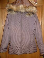 MARVIN RICHARDS BROWN DOWN & FEATHER PADDED PUFFER JACKET MEDIUM DETACHABLE HOOD