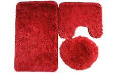 3 Pcs Set Fur Toilet Cover Overcoat Toilet Case Carpet Anti-Slip