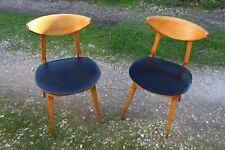 Paire de chaises vintage BAUMANN modèle Fontania