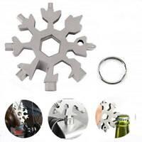 18 In 1 Stainless Multi-Tool Portable Snowflake Shape Screwdriver Tool UK~~