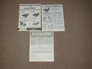 1977 TROY-BILT ROTO TILLER HORSE MODEL MASTER PARTS CATALOG KOHLER  7HP MANUAL
