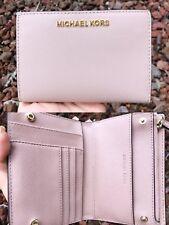 Michael Kors Medium Card Case Carryall Bifold Wallet Fawn Beige