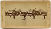 New York Casino Vintage Stereoview Photo by Moulton . Salem Mass