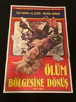Vintage Turkish Movie Poster ZOMBI 2 Alternate Vers OLUM BOLGESINE DONUS Error