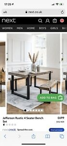 Next Jefferson Dining Table And Bench Set New
