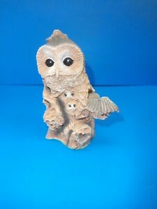 David Meredith A Walk In The Country Owl family - Night Watch - Hand Made