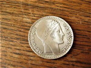 pièce en argent de 20 Fr - 1938 - P. Turin - BE