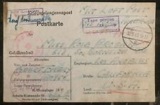 1943 Germany POW Camp Airmail Cover Stalag 9C USA Prisoner of War Tax Percue D