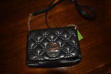 Kate Spade Astor Court Naomi Leather Crossbody Handbag black NWT