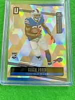 KEITH FORD PRIZM RC CARD REFRACTOR SP # /135 BILLS SSP 2019 UNPARALLELED CUBIC