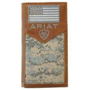 Ariat Digital Camo & Embroidered Flag Bi-fold Rodeo Wallet A3536428