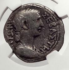 CLAUDIUS & ANTONIA Mark Antony Daughter 41AD Tetradrachm Roman Coin NGC i62455