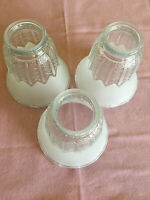 Scalloped Frosted Clear Glass Lamp Shade Up to 3 Shades Available Diamond Tulip