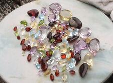 Lot 100 carats de pierres semi-précieuses naturelles taillées Vrac Amethyste...