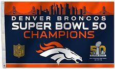 Denver Broncos Super Bowl 50 Champions 3' x 5' Foot Flag Stripes & Stars