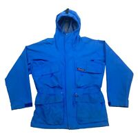 Berghaus Hooded Outdoor Jacket | Vintage 90s Retro Hiking Activewear Blue VTG