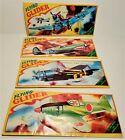 Vintage, 4, Models Flying Glider Planes, Plastic, Sealed, New Old Store Stock.