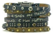 Good Works Come Together Leather Scripture Magnetic Cuff - Renew