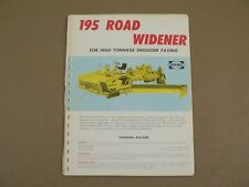 Blaw Knox Technical Service Training Manual Shop Repair 195 Road Widener Paver