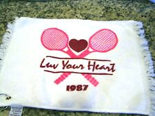 Tennis Towel 'Luv Your Heart 1987' pink rackets