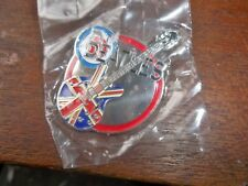 THE BEATLES UNION FLAG  LARGE METAL GUITAR LOGO BROOCH-BADGE-PIN  BRAND NEW